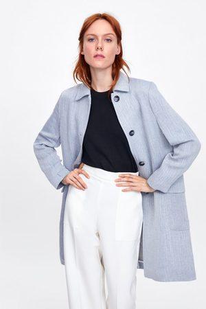 Zara Rustikaler mantel mit knöpfen