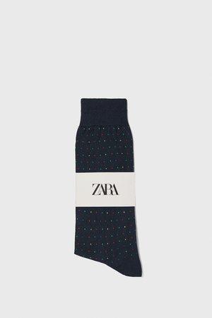 Zara Merzerisierte socken mit jacquardmuster