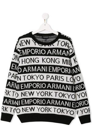 Emporio Armani Sweatshirt mit Logo-Streifen