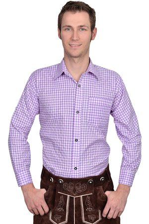Edelnice Trachtenhemd Hemd lila kariert