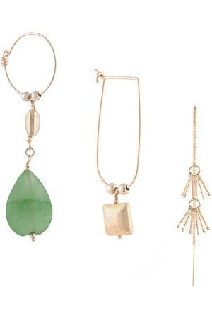 Petite Grand Set aus drei Paar Ohrringen mit Edelsteinen