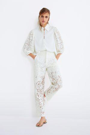 Zara Hose aus spitze mit taschen