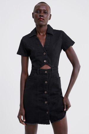 Zara Jeanskleid mit knöpfen