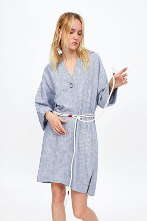 Zara Kleid mit kordelgürtel