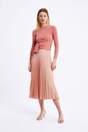 Zara Pullover mit schnürung in der taille
