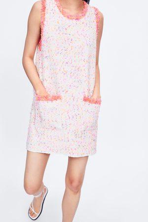 Zara Damen Kleider - Kleid mit ausgefransten nähten