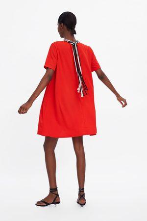 Zara Damen Kleider - Kombiniertes kleid mit kragen