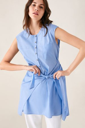 Zara Hemdblusenkleid mit knoten
