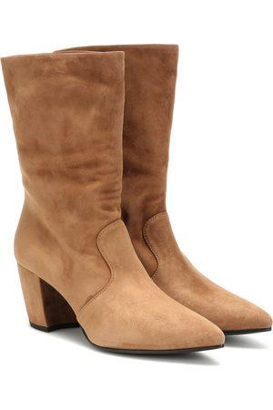 Prada Damen Stiefeletten - Ankle Boots aus Veloursleder