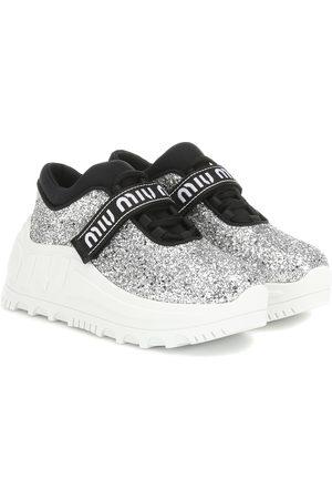 Miu Miu Sneakers mit Glitter