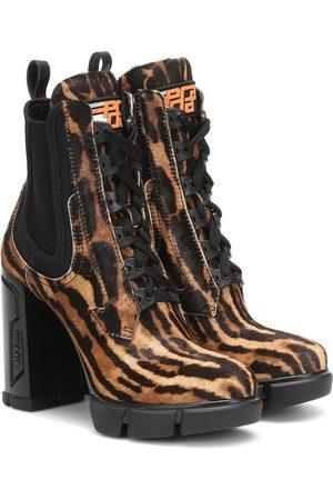 Prada Damen Stiefeletten - Ankle Boots aus Kalbshaar
