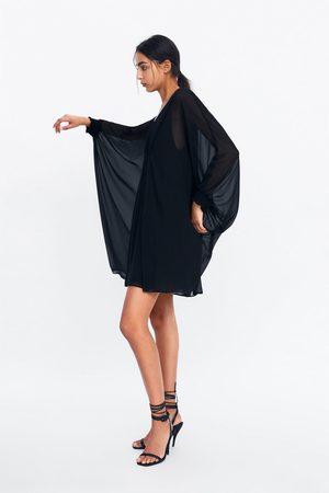 Zara Cape-kleid mit raffung
