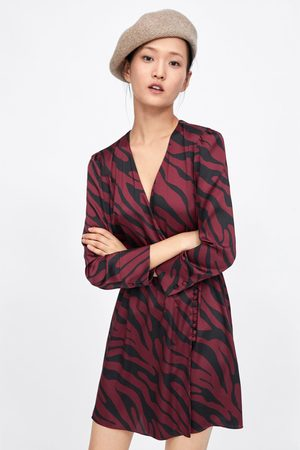 Zara Wickelkleid mit animalprint
