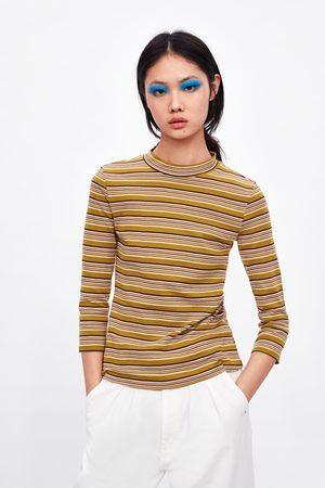 Zara Shirt mit geripptem stehkragen