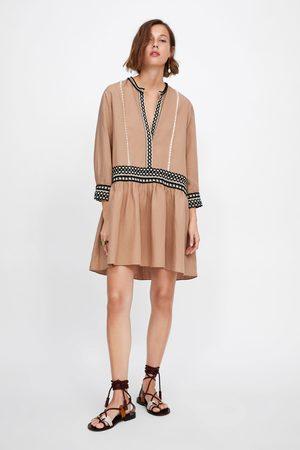Zara Minikleid mit bändern