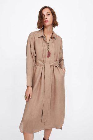 Zara Hemdblusenkleid mit schleife