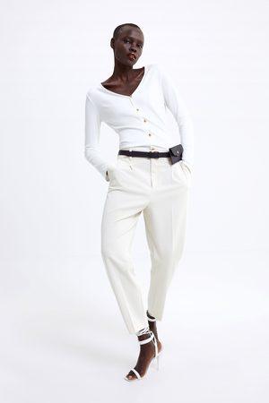 Zara Shirt mit goldfarbenen knöpfen