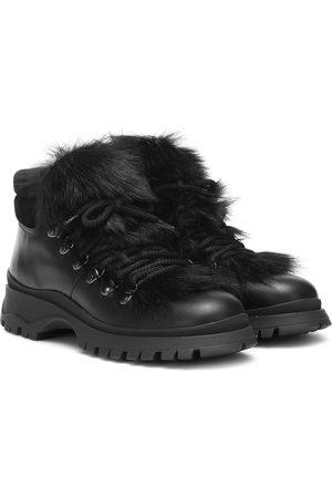 Prada Damen Stiefeletten - Ankle Boots aus Leder