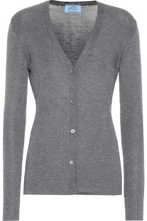 Prada Damen T-Shirts, Polos & Longsleeves - Cardigan aus Kaschmir und Seide