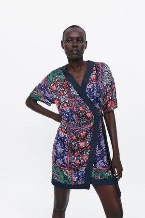 Zara Kleid mit print und schleife