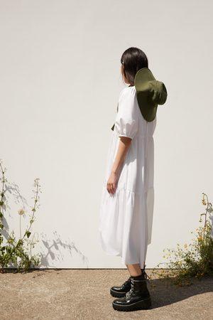 Zara Asymmetrisches popelinkleid