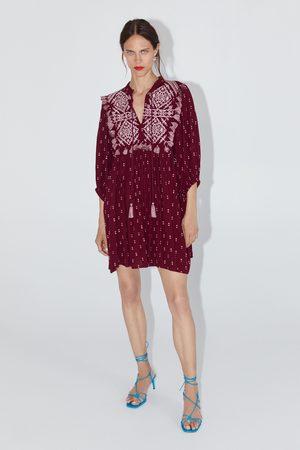 Zara Besticktes kleid mit fransen