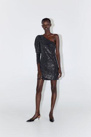 Zara Asymmetrisches kleid mit pailletten