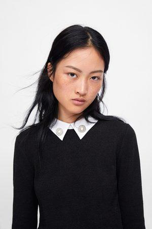 Zara Shirt mit popelinkragen