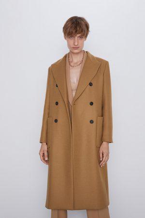 Zara Langer mantel mit taschen