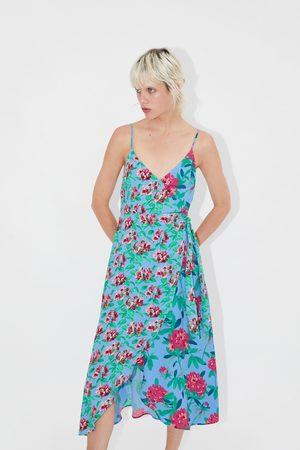 Zara Asymmetrisches kleid mit print