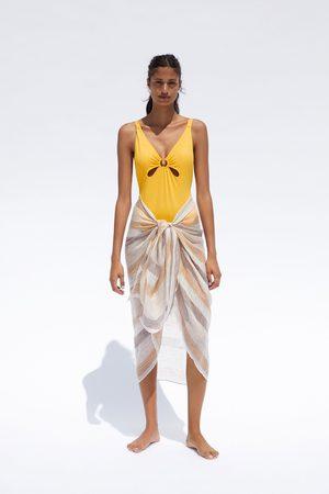 Zara Badeanzug mit ring