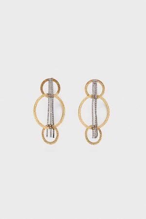 Zara Ring-ohrringe mit ketten