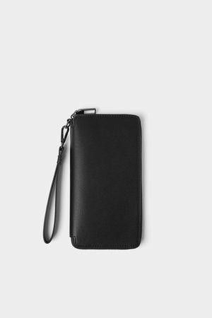 Zara Grosse brieftasche in geprägter optik
