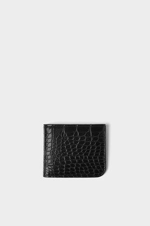 Zara Brieftasche mit reptilienprägung