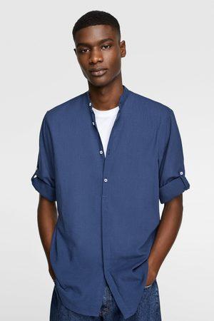 Zara Hemd aus festem stoff mit schlaufen