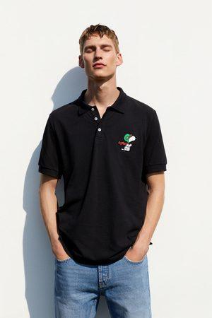 Zara Poloshirt mit snoopy-stickerei © peanuts llc