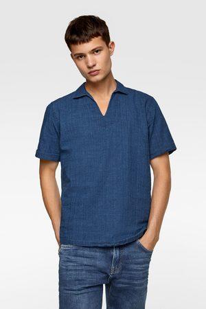 Zara Polohemd aus festem stoff