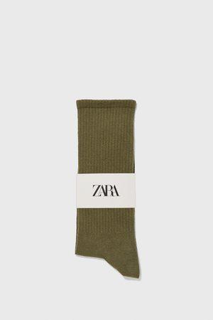 Zara Socken mit rippenmuster