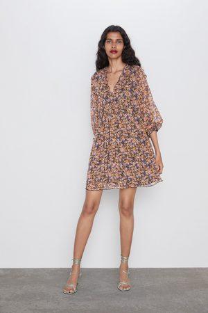 Zara Fliessendes kleid mit print