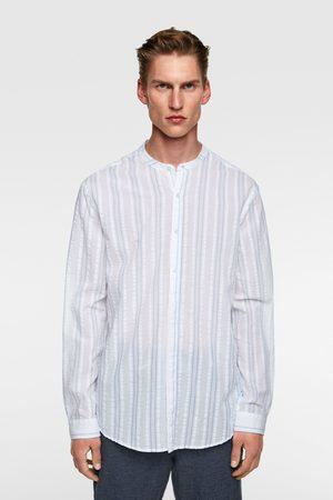 Zara Seersucker-hemd mit streifen