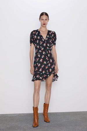Zara Kleid mit print und volant