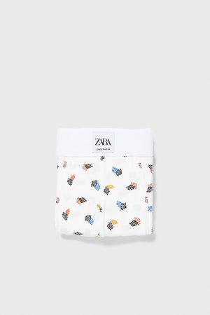 Zara Boxershorts mit blattmuster