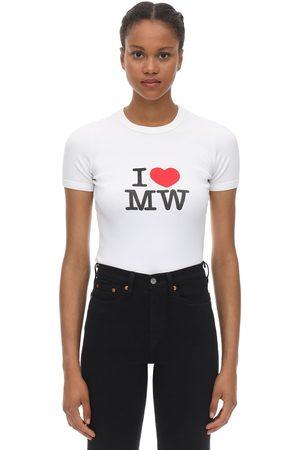Vetements T-shirt Aus Baumwolljersey