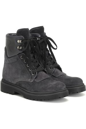 Moncler Ankle Boots Patty aus Veloursleder