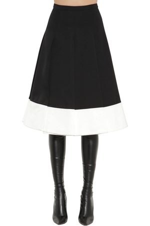 Rochas High Waist Japanese Wool A-line Skirt