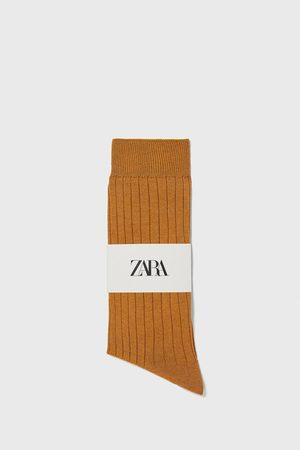 Zara Merzerisierte socken mit rippenmuster