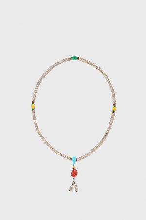 Zara Herren Halsketten - Halskette mit verschiedenen schmuckperlen