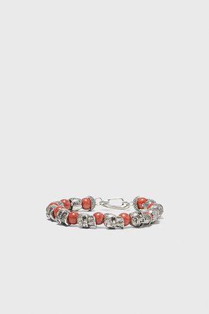 Zara Armband mit schmuckperlen und totenkopf