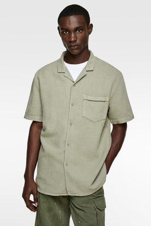 Zara Hemd aus festem stoff mit struktur