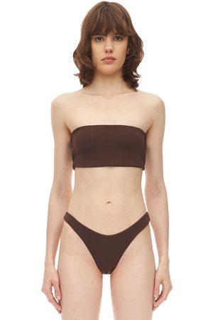 AEXAE Bandeau-bikinioberteil Aus Lyvra Und Nylon